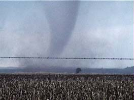 tornado on the ground