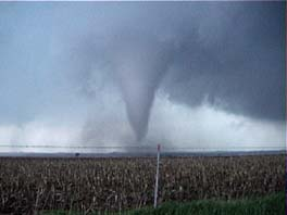 tornado with wall cloud and circulation